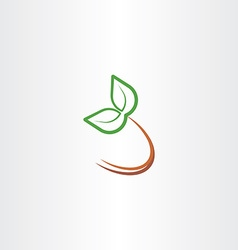 eco plant leaf icon design element symbol vector image