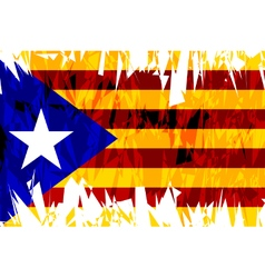 Flag of Catalonia vector image vector image
