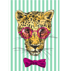 hand-drawn leopard vector image vector image