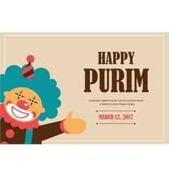 happy Purim Jewish holiday vector image vector image