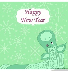 new year background with hourse vector image vector image