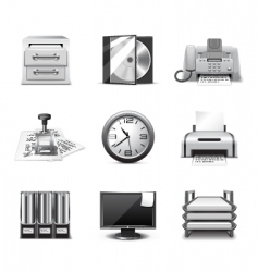 office icons | bw series vector image vector image