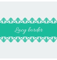 Ornamental lace border vector