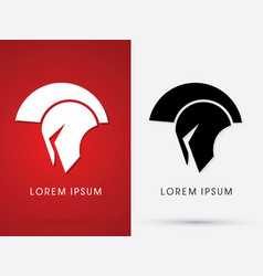 roman or greek helmet spartan vector image vector image
