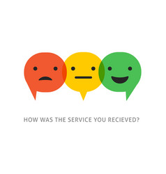 satisfaction survey with speech bubbles vector image vector image