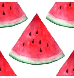 Seamless watercolor hand drawn watermelon vector
