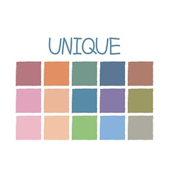 Unique Color Tone without Code vector image vector image