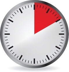 Clock with red 10 minute deadline vector