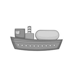 Oil tanker icon black monochrome style vector