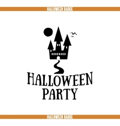 Halloween party house badge vector
