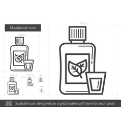 Mouthwash line icon vector