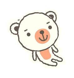 A bear is sitting vector