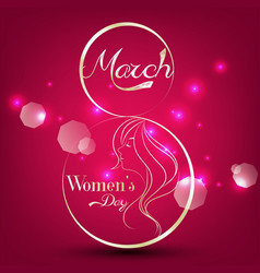 Women day stylish element for light background vector