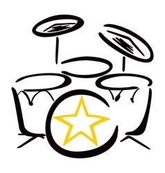 Set for drummer vector image