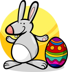 Funny easter bunny cartoon vector