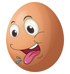 An egg with a playful face vector image