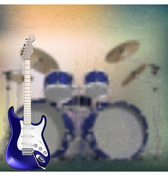 Abstract grunge background with electric guitar vector