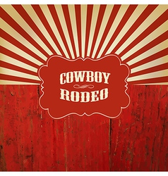 Rodeo retro background vector