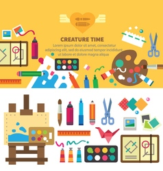 Creative set for artist vector