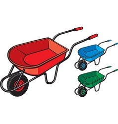 Wheelbarrows vector image