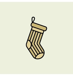 Christmas stocking icon vector
