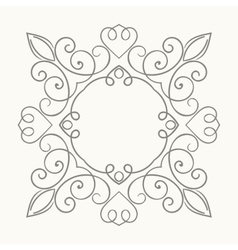 Elegant luxury retro floral frame vector