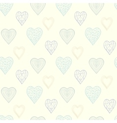 Heart pattern in pastel colors vector image