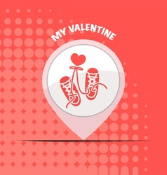 valentine day sport icons on red background design vector image
