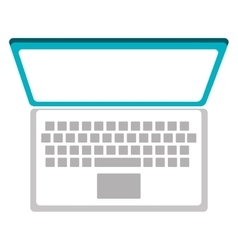 Technology pc laptop isolated icon vector
