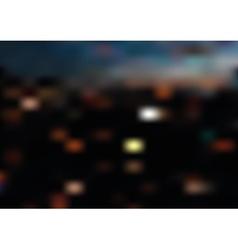 Blurred night city landscape vector
