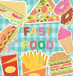 Banners of fast food designBurger in flat style vector image vector image