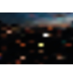 Blurred night city landscape vector image vector image