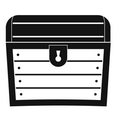 Chest icon simple style vector