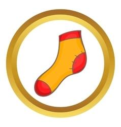 Christmas sock icon vector