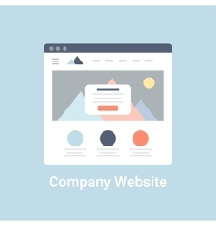 Company Website Wireframe vector image vector image