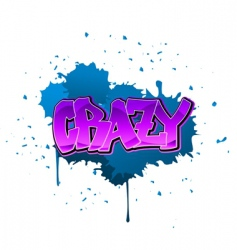 crazy graffiti background vector image