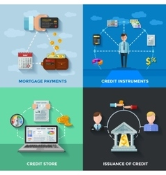 Credit Rating 2x2 Design Concept vector image