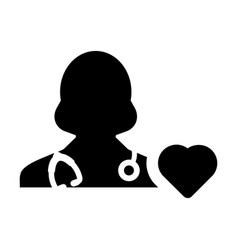 Doctor icon cardiologist specialist with heart vector