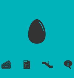 Egg icon flat vector