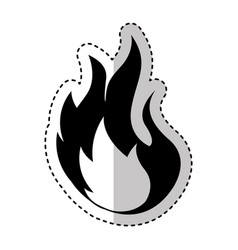 Fire flame sign icon vector