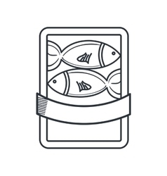 Fish restaurant emblem icon vector