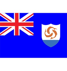 Flags of anguilla vector image vector image