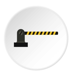 Gate in parking lot icon flat style vector