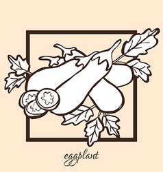 hand drawn eggplants vector image vector image