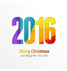 Happy New Year 2016 Colorful Greeting Card vector image