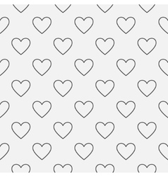 Heart seamless minimal pattern vector image vector image