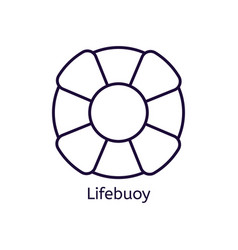 icon of lifebuoy on a white background vector image
