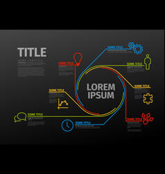 infographic schema template vector image