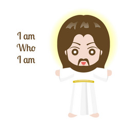 jesus christ design over white background vector image vector image