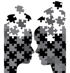 man and woman puzzles vector image